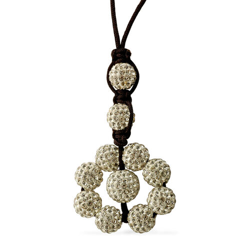 White Austrian Crystal Tranquility Necklace (Adjustable)