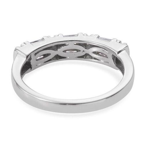 Swarovski Zirconia (1.00 Ct) Platinum Overlay Sterling Silver Ring  1.000  Ct.
