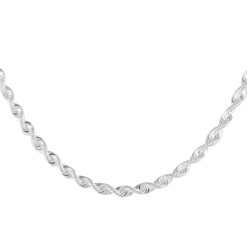 Close Out Deal Sterling Silver Rope Chain (Size 20), Silver wt 7.70 Gms.