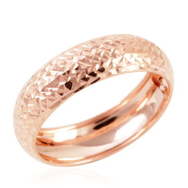 Royal Bali Collection 9K Rose Gold Diamond Cut Band Ring