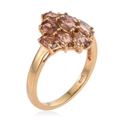 Jenipapo Andalusite (Ovl) Ring in 14K Gold Overlay Sterling Silver 2.000 Ct.