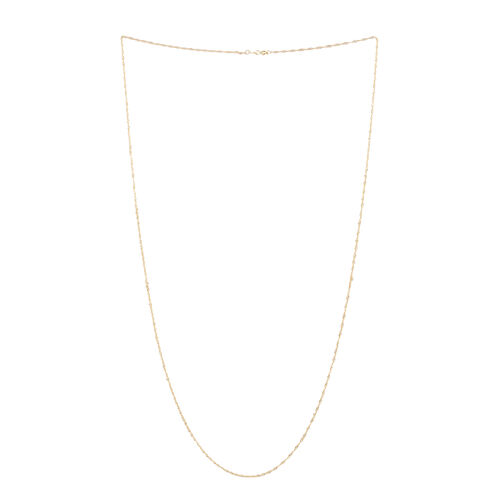 Limited Available- Italian Made 14K Gold Overlay Sterling Silver Prince of Wales Chain (Size 30)