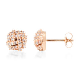 9K Rose  Gold 0.33 Carat Natural Pink Diamond (Rnd) Earrings (with Push Back)