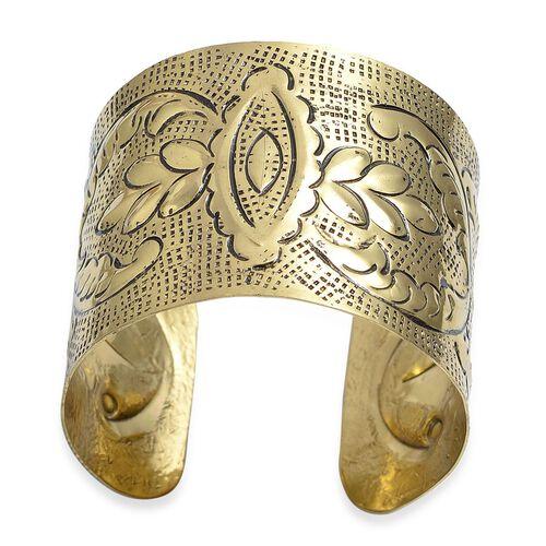 (Option 1) Jewels of India Embossed Choker, Hook Earrings and Cuff Bangle