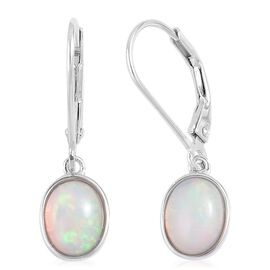Ethiopian Welo Opal (Ovl) Lever Back Earrings in Platinum Overlay Sterling Silver 1.500 Ct.