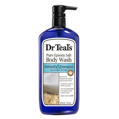 Dr Teals Pure Epsom Salt Body Wash Detoxify and Energize with Ginger and Clay  710 ml
