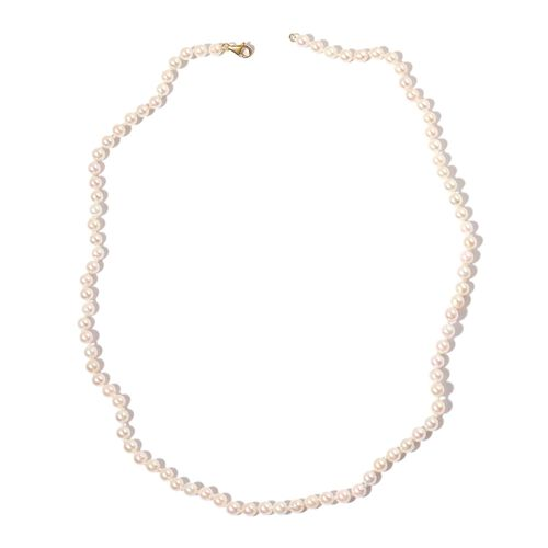 ILIANA 18K Yellow Gold Japanese Akoya Pearl Beaded Necklace (Size 22)