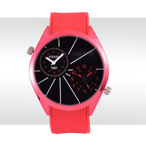 STRADA Dual Time Watch -Red