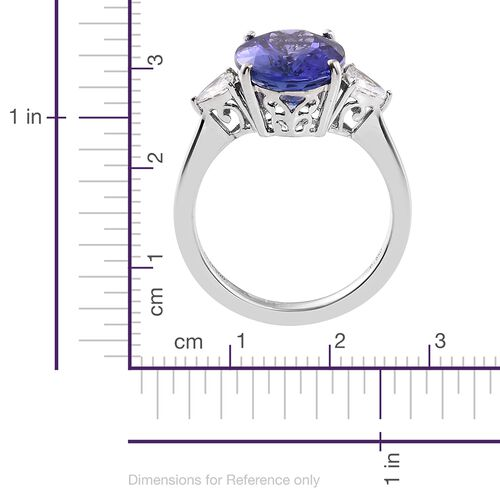RHAPSODY 950 Platinum AAAA Tanzanite (Ovl 7.94 Ct), Diamond (VS/E-F) Ring 8.460 Ct.