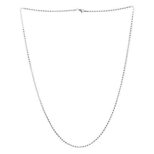 Sterling Silver Mirror Popcorn Chain (Size 30), Silver wt 10.30 Gms.