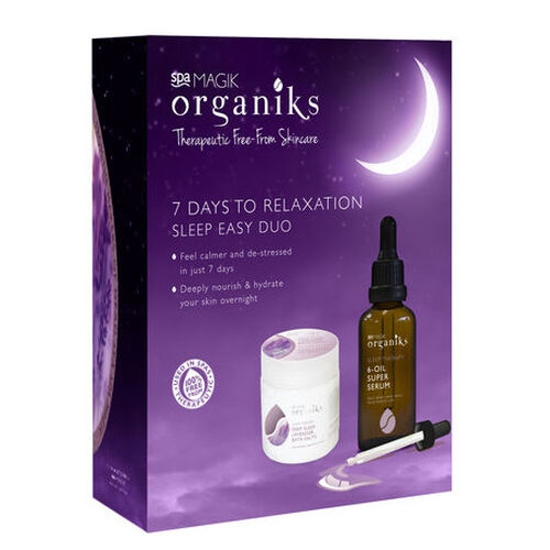 MAGIK ORGANIKS- Spa Magik Organiks 7 Days to Relaxation, Lavender Bath Salts 550g and 6 point Sleep Therapy Oil 50ml