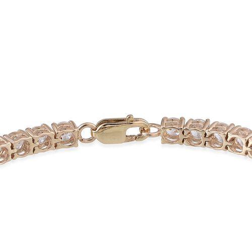 9K Y Gold (Rnd) Bracelet Made with 120 FACETS HERITAGE CUT SWAROVSKI ZIRCONIA (Size 7.5)