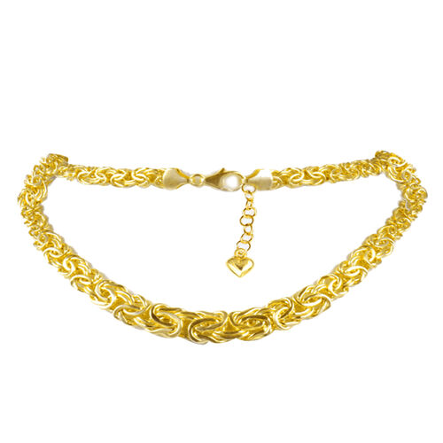 JCK Vegas Collection 9K Y Gold Byzantine Chain (Size 18 with 3 inch Extender), Gold wt. 12.86 Gms.