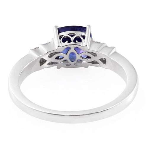 ILIANA 2 Carat AAA Tanzanite and Diamond (SI/G-H) Ring in 18K White Gold
