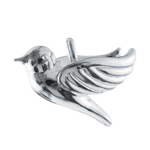 Silver Flying Bird Pendant in Platinum Overlay, Silver wt. 3.31 Gms.