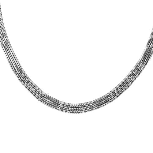 Royal Bali Collection Handmade Sterling Silver Tulang Naga Necklace (Size 17), Silver wt 64.20 Gms.