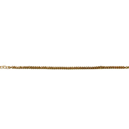 9K R Gold Diamond Cut Beads Bracelet (Size 7 with 1 inch Extender), Gold wt 3.77 Gms.