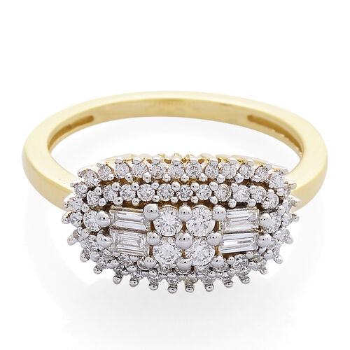 ILIANA 18K Yellow Gold IGI Certified Diamond (Rnd) (SI/G-H) Ring 0.500 Ct.