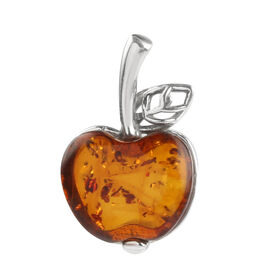 Baltic Amber (Apple 18x15mm) Pendant in Sterling Silver 7.500 Ct.