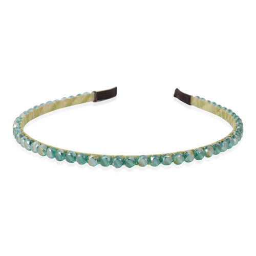 Limited Edition- Round Crystal Hairdband- Green