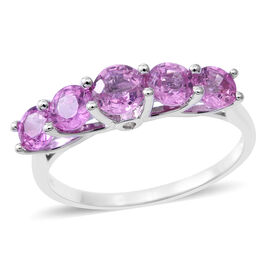 Signature Collection - ILIANA 18K White Gold AAA Pink Sapphire (Rnd), Diamond (SI/G-H) Ring 2.500 Ct.