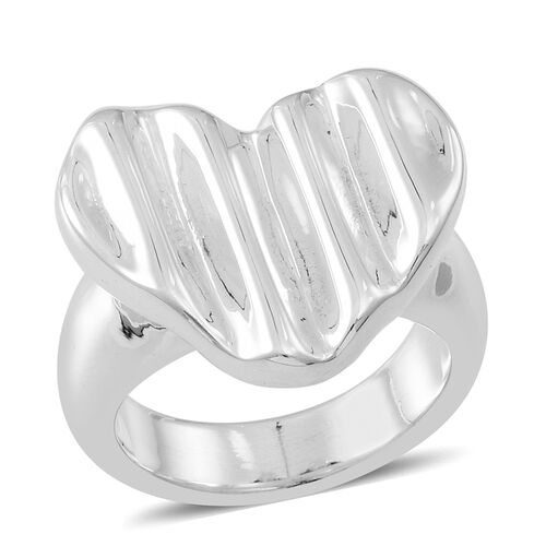 Thai Sterling Silver Heart Ring, Silver wt 5.54 Gms.