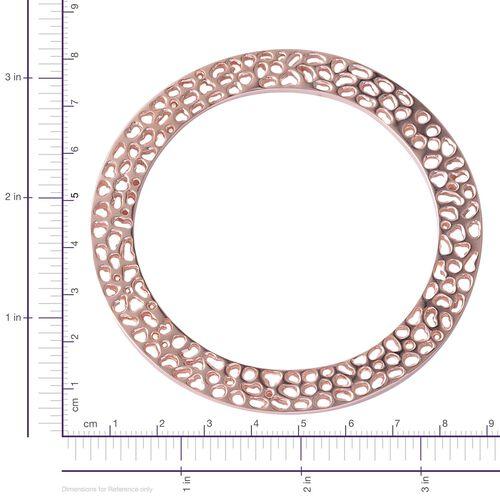 RACHEL GALLEY Rose Gold Overlay Sterling Silver Enkai Sun Bangle (Size 8), Silver wt 35.47 Gms.