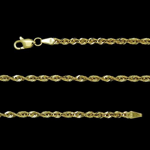 JCK Vegas Collection ILIANA 18K Yellow Gold Rope Chain Long Necklace Size 32 Inch, 6.30 Gms.
