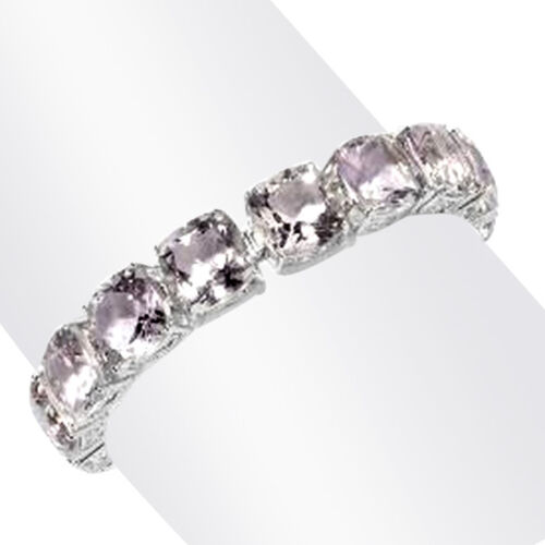 Brazilian Pink Amethyst (Cush) Bracelet (Size 8) in Rhodium Plated Sterling Silver 100.000 Ct.