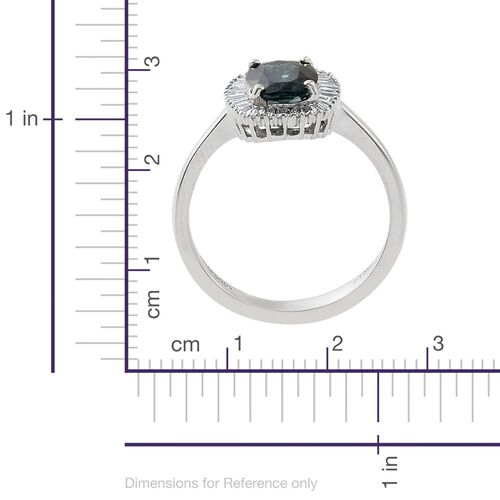 RHAPSODY 950 Platinum 1.50 Carat AAAA Monte Belo Indicolite Halo Ring with Diamond VS E-F