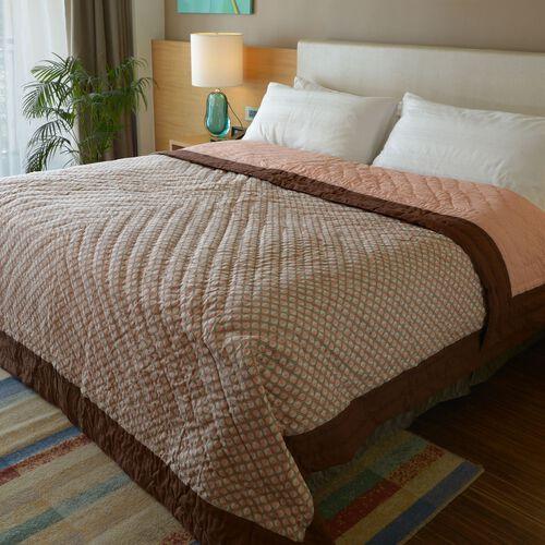 100% Cotton Art Deco Printed Reversible Quilt (Size 260x240 Cm)
