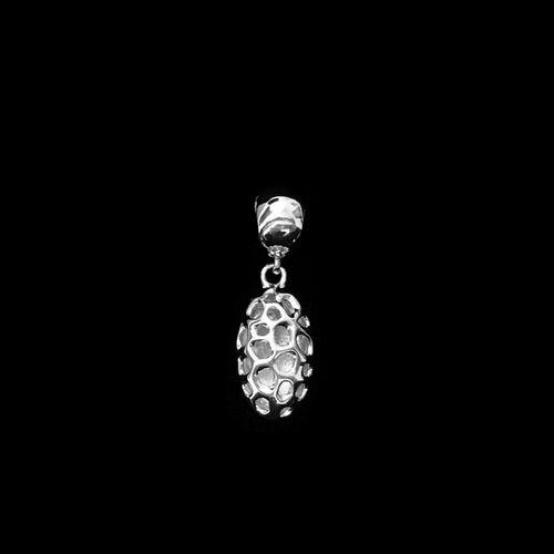RACHEL GALLEY Rhodium Plated Sterling Silver Pebble Charm Pendant