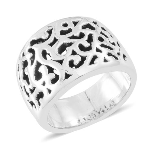Statement Collection Sterling Silver Filigree Ring, Silver wt 5.56 Gms.
