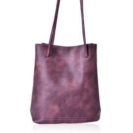 Designer Inspired Estella Dark Purple Colour Large Size Tote Bag (Size 30x28x15 Cm)