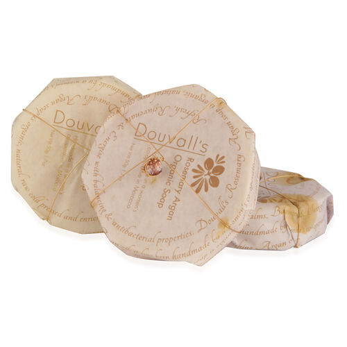 Set of 3 Organic Argan Cleansing Soap
