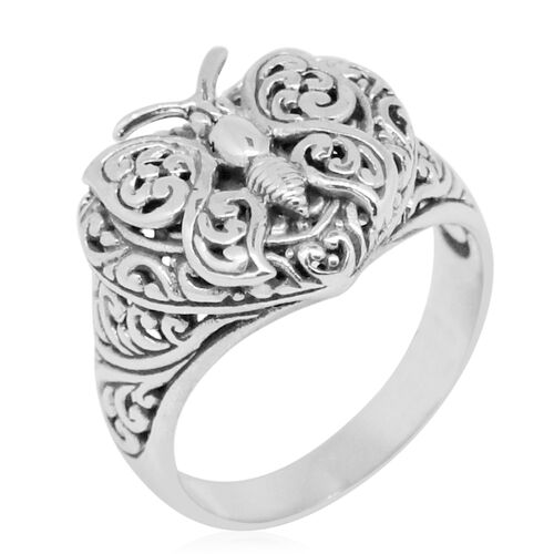 Royal Bali Collection Sterling Silver Butterfly Ring, Silver wt. 5.46 Gms.