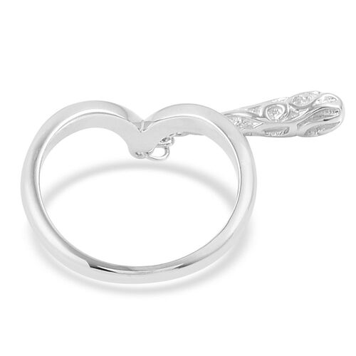LucyQ Air Drip Ring in Rhodium Plated Sterling Silver