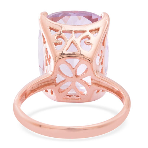 Limited Edition AAA Rose De France Amethyst (Cush) Ring in Rose Gold Overlay Sterling Silver 19.750 Ct.