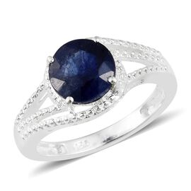 Masoala Sapphire (Rnd) Solitaire Ring in Sterling Silver 2.750 Ct.