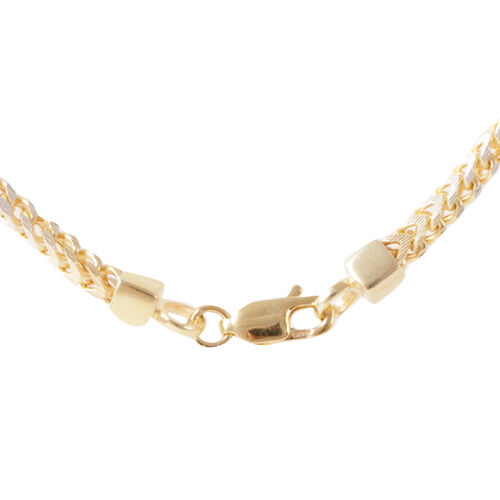 14K Gold Overlay Sterling Silver Franco Chain (Size 28), Silver wt 12.50 Gms.