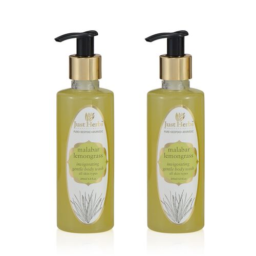 (Option 2) EXCLUSIVE TO TJC - Just Herbs Malabar Lemongrass - Invigorating Body Wash (200 ml)