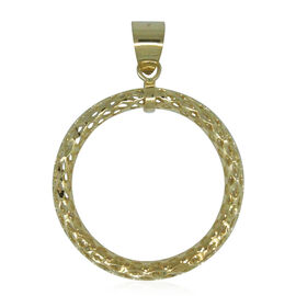Designer Inspired- 9K Y Gold Diamond Cut Circle of Life Pendant