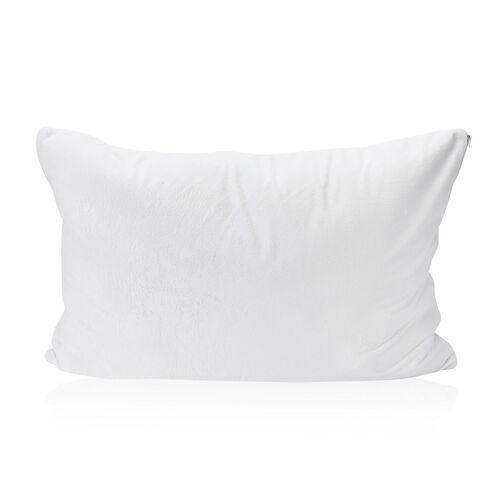 White Colour Reversible Memory Foam Jumbo Warm & Cool Pillow (Size 75x50 Cm)