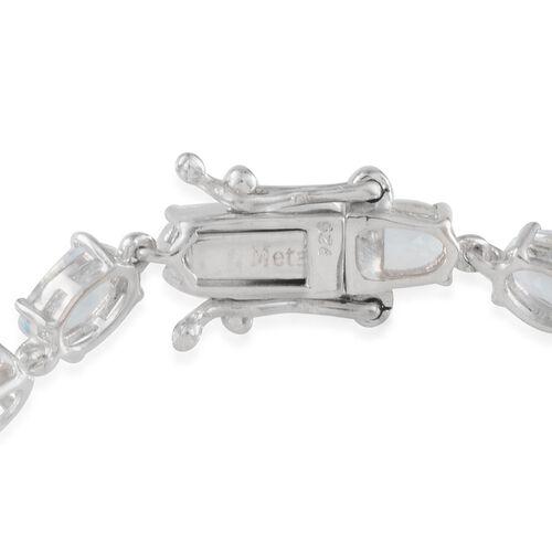 Espirito Santo Aquamarine (Ovl) Bracelet (Size 7.5) in Platinum Overlay Sterling Silver 8.250 Ct.
