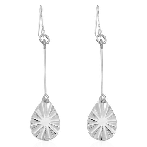 Thai Sterling Silver Hook Earrings, Silver wt 4.43 Gms.