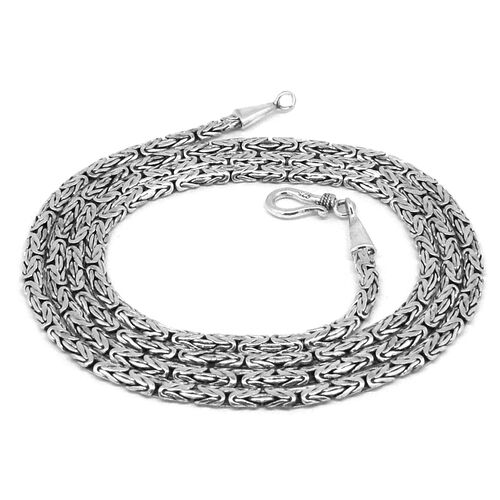 Royal Bali Collection Sterling Silver Borobudur Necklace (Size 30), Silver wt. 32.83 Gms.