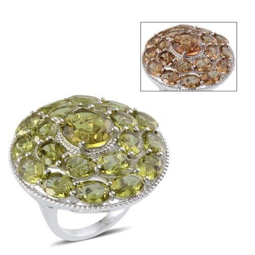 Alexite (Ovl 5.00 Ct) Cluster Ring in Platinum Overlay Sterling Silver 21.750 Ct.