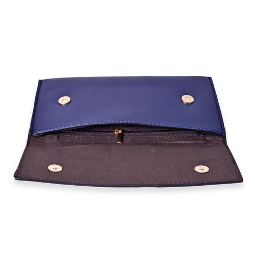 Set of 2 -New Season YUAN COLLECTION Navy and Grey Colour Clutch (Size 21x12 Cm)