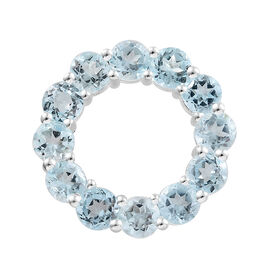 Sky Blue Topaz (Rnd) Circle of Life Pendant in Sterling Silver 3.750 Ct.