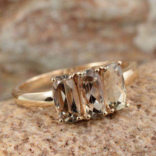 ILIANA 18K Y Gold Turkizite (Cush) Trilogy Ring 2.500 Ct.